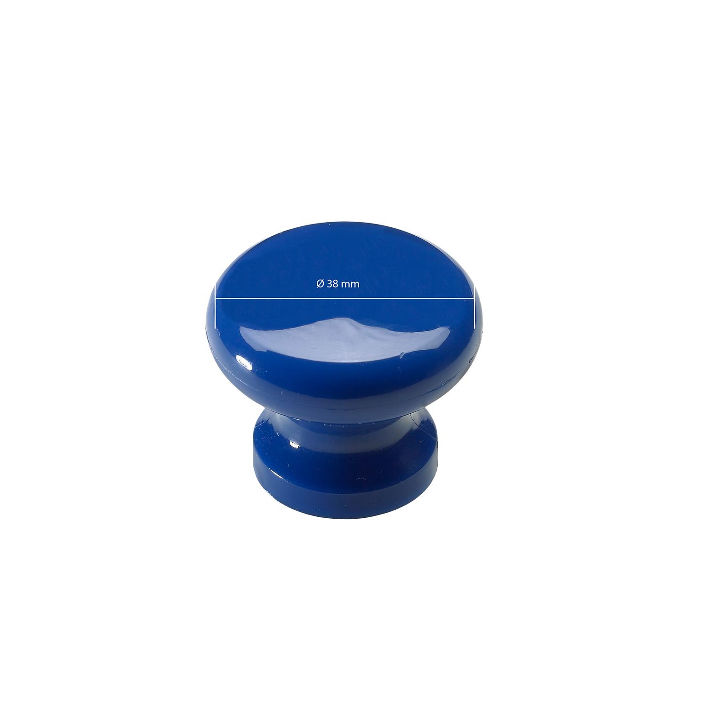 Hettich Plastic Blue Finish Furniture Knob