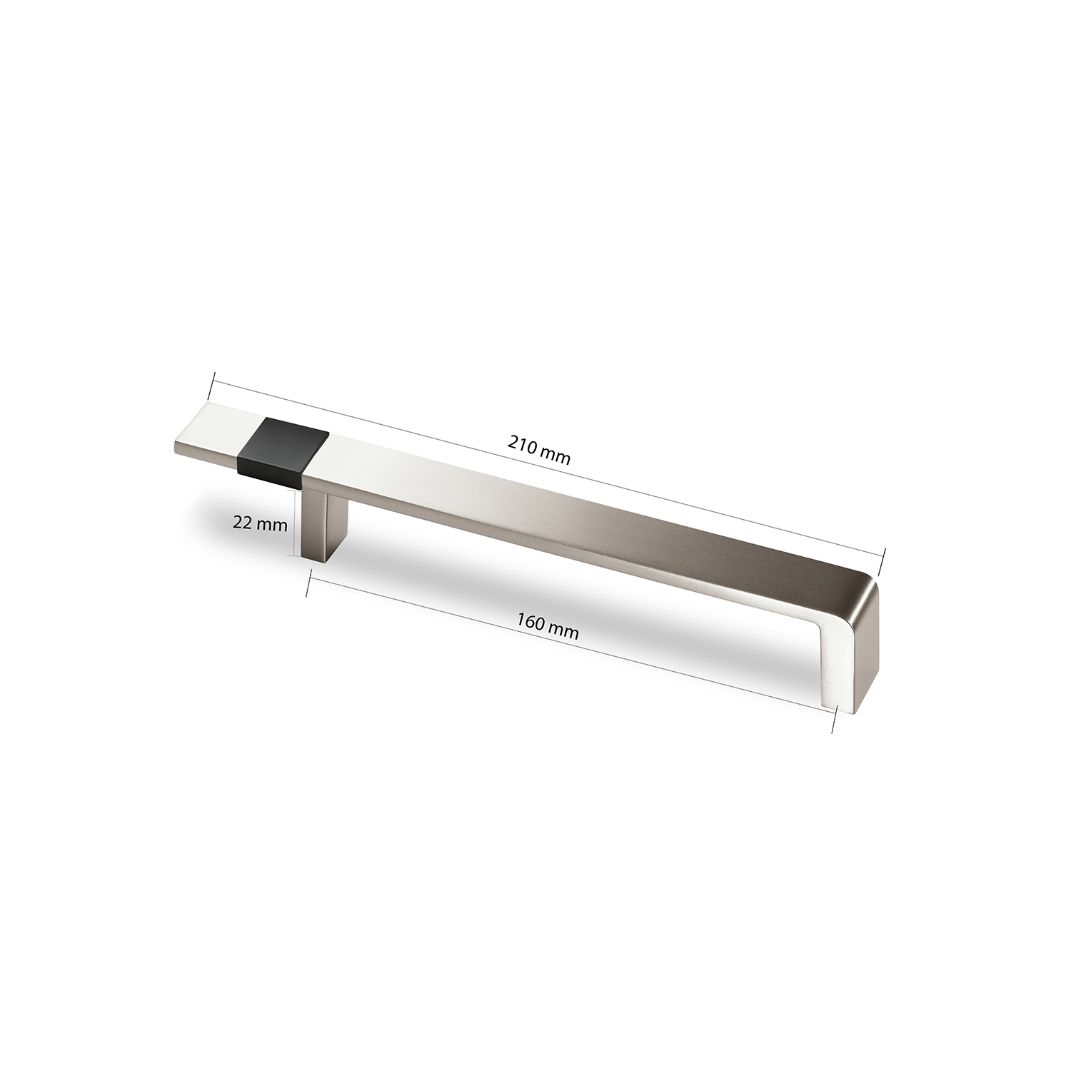 Alpha Decorative Zinc Brushed SS Finish Handle