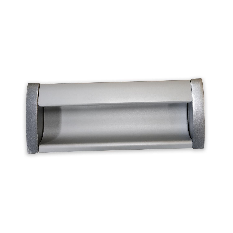 Alfa Recessed Aluminum Silver Finish Handle